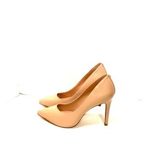 BCBG Generation Nude Leather Heels! New!